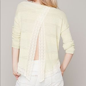Free People Split Back Lacey Pullover